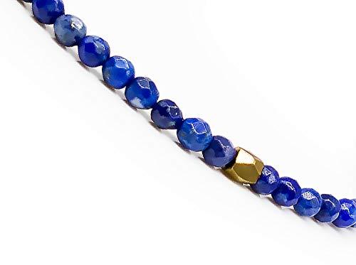 Imagen de mister boncuk 's filigrane handmade macramé pulsera para mujer de lapislázuli natural piedras ideal como regalo alternativa