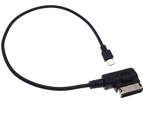 AUX Adapter Micro USB Media Interface Kompatibel mit Audi MMI 3G Seat Skoda VAG RCD RNS 315 510 Htc 3g Smartphone