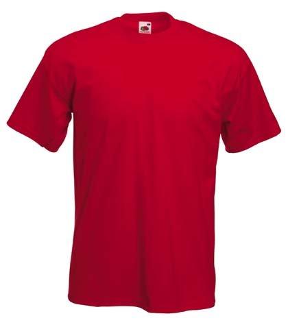 Fruite of the Loom Super Premium T-Shirt, Rot, Gr.L L,Rot