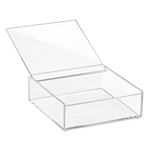 Interdesign 39610EU Clarity Aufbewahrungsbox mit Deckel Medium, 5 cm Hoch, durchsichtig