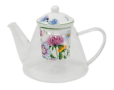 Théière en verre avec filtre–Linda–1,2L Porcelaine de Duo dans emballage cadeau