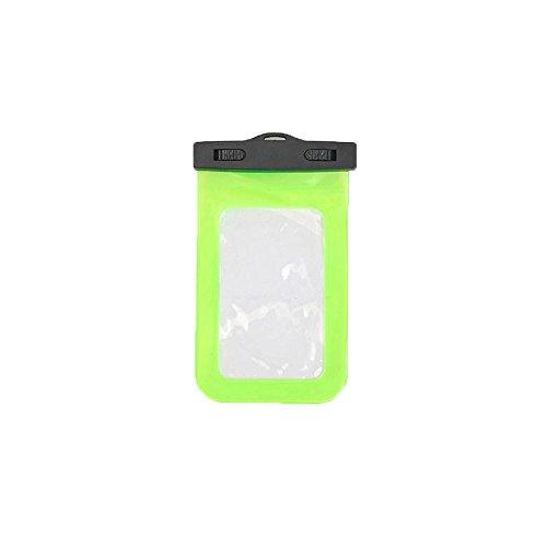 Boladge Sacchetto di caso impermeabile del PVC della cassa del telefono universale che porta la borsa del telefono di nuoto con la corda appendente (Rosa) Verde