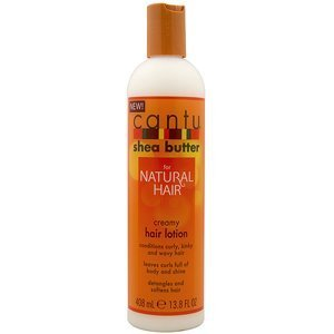 Cantu Shea Butter Creamy Hair Lotion 13.8 oz (SEALED TOP AND WHOLE BOTTLE!!!) by Cantu [Beauty] (English Manual)