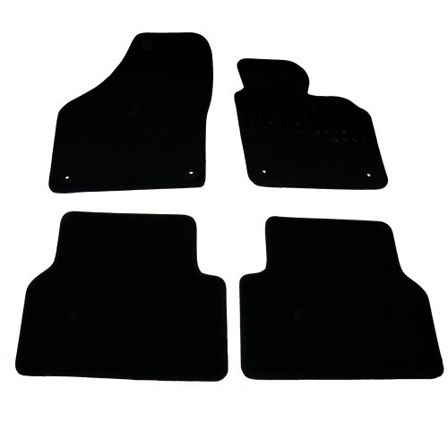 Sakura Mat Set includes Black Carpet with Rubber Heel Pad