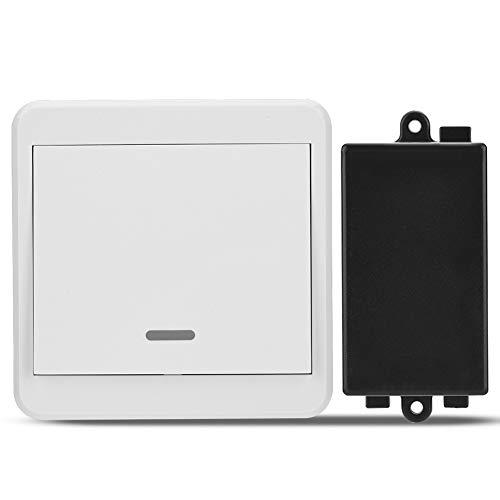 Tihebeyan Interruptor de Control Remoto, 220 V 1-CH 433 MHz Interruptor de relé para Control Remoto inalámbrico Anti-interferencias
