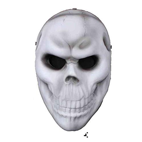 Durch Knochen Kopf Kostüm - HBWJSH Halloween Kostüm Party Requisiten weißen Knochen Maske Horror