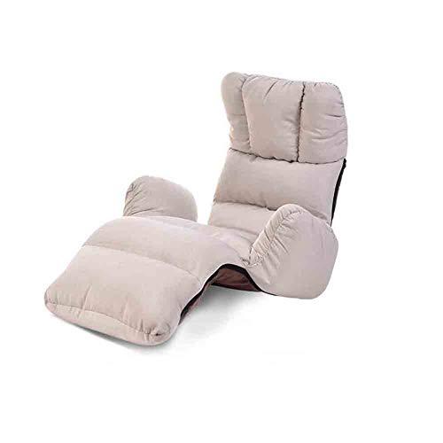 Sunny Lounge Schlafsofa Klapp Einstellbare 8-Position Floor Lounger Sleeper Futon-Matratze Sitzstuhl, Erkerfenster Sofa (Farbe : Gray) -