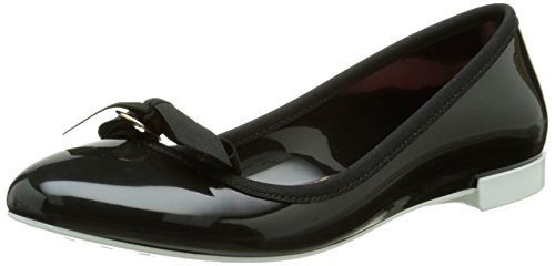 Lemon Jelly Bow, Damen Slingback Ballerinas, Schwarz - Schwarz - Noir (01 Black/White) - Größe: 39 (Jelly-ballerinas)