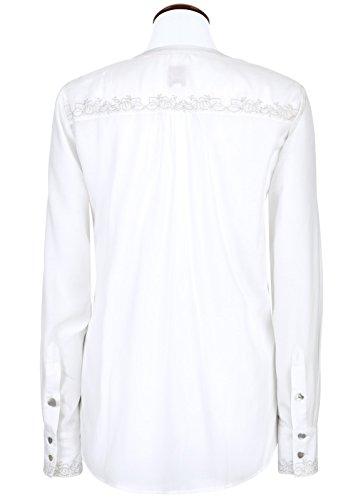 Michaelax-Fashion-Trade - Chemisier - À Fleurs - Manches Longues - Femme Weiß (2014 )