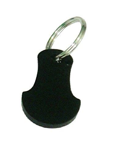 shopping-trolley-cart-token-key-coin-reusable-free-keyring-black