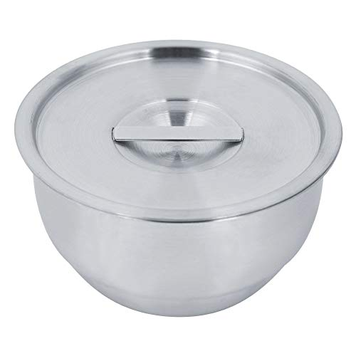 Aufee Edelstahlschüssel, Rührschüssel mit Deckel Suppe Eiernahrungsmittel tragbare Schüssel für die Küche -