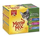 Meow Mix Seafood Selections Wet Cat Food Variety Pack, 2.75-Ounce Cups (Pack of 24)(Pack of 3) by Meow