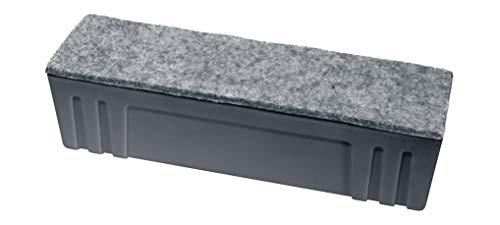 SIGEL MU204 Board-Eraser, Whiteboard-Schwamm, Tafellöscher zur Trockenreinigung, magnetisch, Anthrazit, 1 Stück (Eraser Reinigungsschwamm)