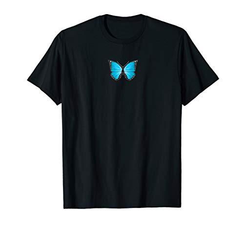 Blue Butterfly Aesthetic Clothing Soft Grunge Girls Women T-Shirt -
