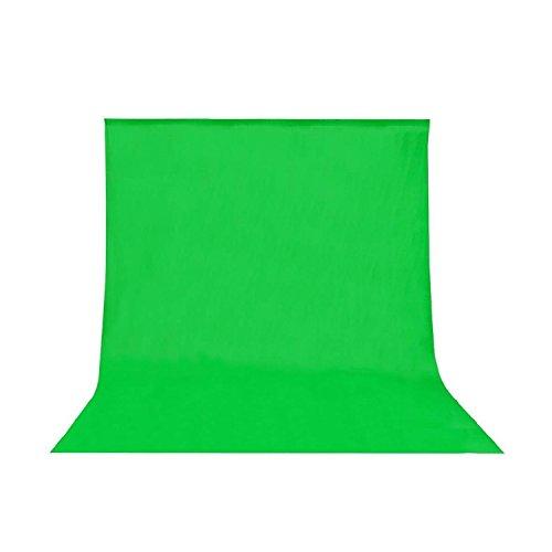 Wecellent Greenscreen Hintergrund (Baumwolle) für Chromakey Effekte - 300 x 300 cm