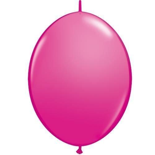 Unbekannt Wilde Beeren Rosa 12 Zoll Qualatex Quick Link Ballons X 50 - Pink Link-ballons