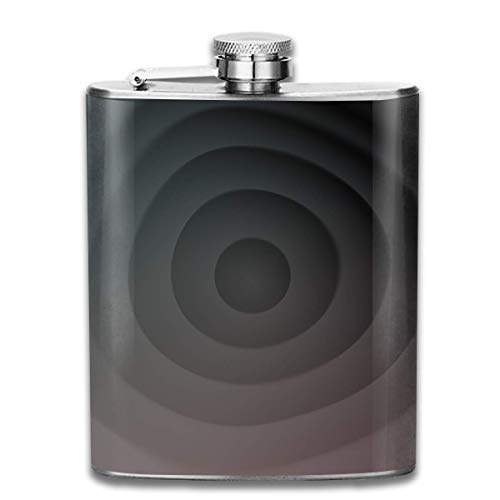 Gray Black Gradient Fashion Portable 304 Stainless Steel Leak-Proof Alcohol Whiskey Liquor Wine 7OZ Pot Hip Flask Travel Camping Flagon for Man Woman Flask Great Little Gift