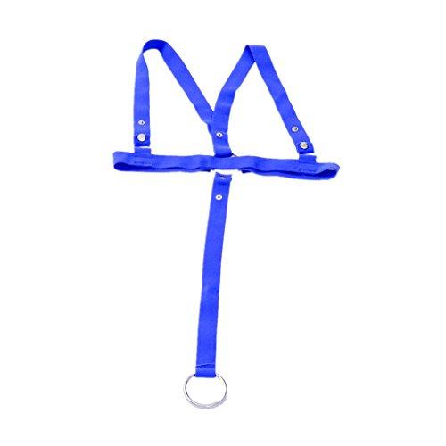 Preisvergleich Produktbild Sexy Maenner Thong Tanga Badehose Bodysuit string riemenbody Jockstrap Blau