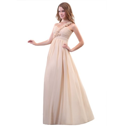 Sunvary A una Line-spalla in Chiffon Prom Gowns, sera, varie taglie Baby Pink