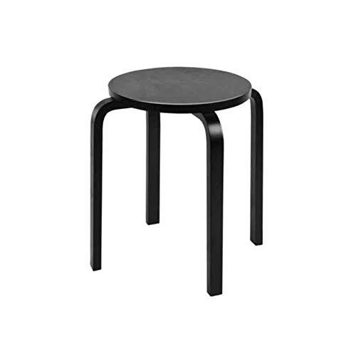 Sunny Tabouret De Table À Manger Simple Ménage Petit Banc Couleur du Bois, H45 X 40 X 40 Cm (Couleur : Noir)