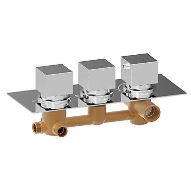 miaoge Wasserhahn Dusche–American Standard–Zeitgenössisch–Thermostatische–Messing (chrom) (Standard American Wasserhahn Dusche)