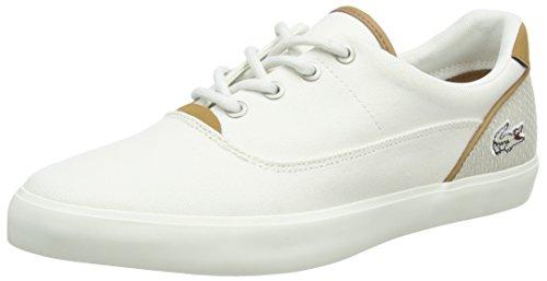 Lacoste Herren Jouer Lace 118 1 Cam Sneaker, Weiß (Off WHT/Nat), 45 EU