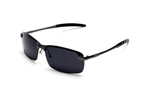 XIAOGUAI66 Polarisierte Sonnenbrille für Männer und Frauen mit Brille Tag und Nacht Farbwechsel Brille Fahrer Sonnenbrille Reitbrille Black Box graues Blatt