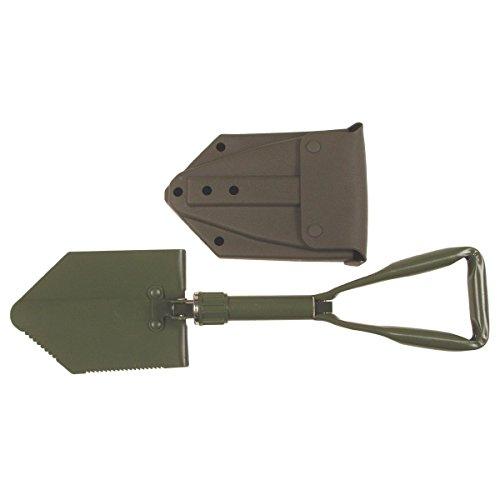 Klappspaten, neues BW Bundeswehr Modell, 3-teilig, Aluminium, Stahl, Tasche, neu
