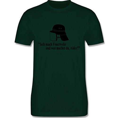 Feuerwehr - Ich mach Feuerwehr und was machst Du - Herren Premium T-Shirt Dunkelgrün