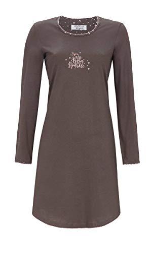 Ringella Lingerie Damen Nachthemd mit Motivdruck Charcoal Grey 42 9561024, Charcoal Grey, 42