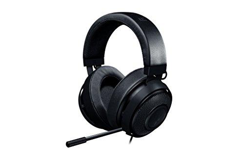 Foto Razer Kraken Pro V2 (Oval) Cuffie da Gioco Analogiche Over-Ear, Gaming Headset per PC, Driver Audio da 50 mm e Struttura Unica in Alluminio per Elevata Durata, Nero