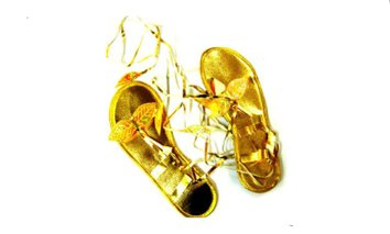 Goldene Römer Sandalen - zum Kostüm Gladiatorin Göttin oder Cleopatra