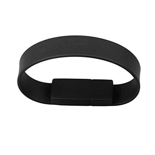 Silikon-armband Usb-flash-speicher (Silikon Armband USB2.0-Stick, Transer® Flash Drive 128GB 2GB 4GB 8GB 16GB 32GB 64GB USB 2.0Flash Drive Memory Stick Speicher Pen Digitale U Festplatten mehrfarbig schwarz 8 GB)