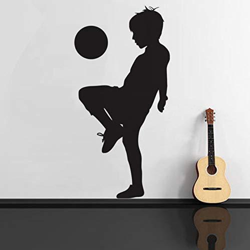 (Hwhz 29X59 Cm Spielen Fußball WandaufkleberKleine Kinder Spieler Wandtattoo Für Kindergarten Spielzimmer Wohnkultur Wohnzimmer)