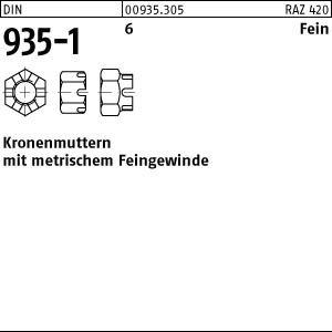 1 Kronenmuttern DIN 935 -1 6 M48x3 Stahl
