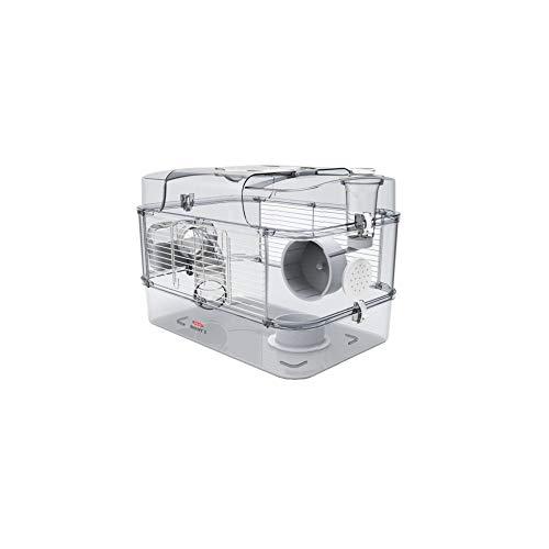 Gabbia Habitat per Criceto MOD. RODY 3 Solo Colore Bianca Completa di Accessori Mis. 41x27x28h con Tubi e Giochi