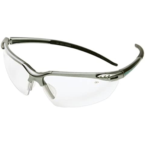 Chase Ergonomics Body Glove Biodegradable Safety Glasses, Clear Lens/Metallic Silver Frame