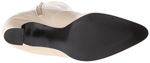 Funtasma Victorian-120 Retro Gothic Stiefel Beige Creme 36-42 Cream Pu
