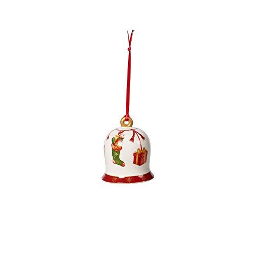 Villeroy & Boch Annual Christmas Edition Glocke 2019, Baumschmuck aus Premium Porzellan, limitierte Weihnachts-Edition, bunt, 6 x 6 x 7 cm