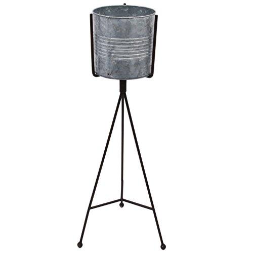 Laterne Stylo Simple Vintage Design Metall grau Windlicht (63x16x23cm)