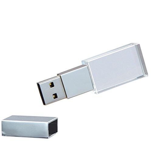 Uflatek 16 gb pendrive memoria usb 2.0 impermeabile chiavetta usb argento tappo di metallo penna usb vetro flash drive archiviazione dati