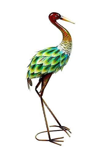 Klp Reiher Fischreiher Kranich Metall Vogel Deko Garten Teich Fisch Figur Teichfigur