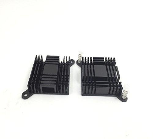 10PCS dissipatore 38x 38x 10mm nero alluminio