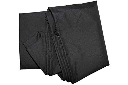 OUTFLEXX Premium Abdeckhaube für Schwingliege, schwarz, wasserbeständig, 187 x 82 x 212 cm