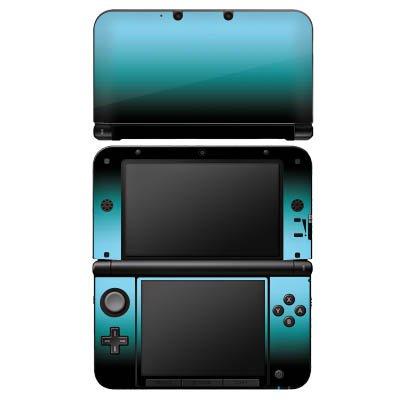 DeinDesign Nintendo 3 DS XL Case Skin Sticker aus Vinyl-Folie Aufkleber Blau Schwarz Farbverlauf