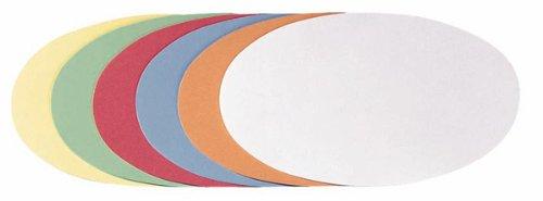Franken UMZ 1119 99 Moderationskarten Ovale, 11 x 19 cm, 500 Stück, sortiert