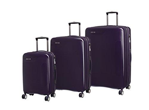 It luggage Set 3 Pezzi Signature 8 Ruote Valigia Rigida Singola Espansione con Tsa Lock Valigia 79 cm, Purple (Viola) - 16-2189-08GLO3N-S384