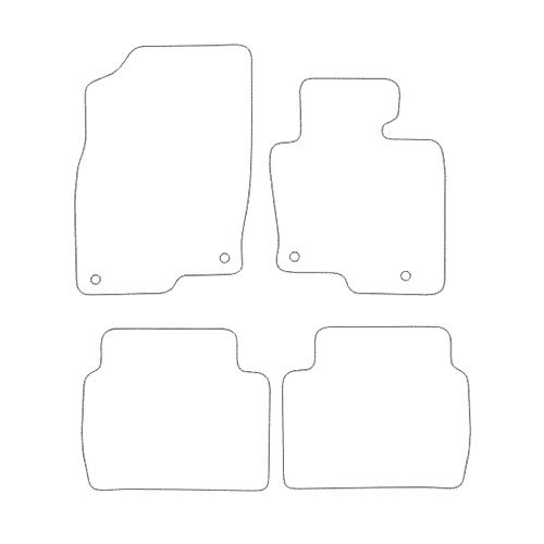 Charcoal Carpet 1423 Black Heel Pad Black Trim Car Mats to fit CX-5 2012-2017 Heavy Duty Rectangle Heel Pad
