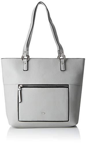 TOM TAILOR Shopper Damen, Ariana, Grau, 41x32x11.5 cm, Schultertasche, Tom Tailor Handtaschen Damen