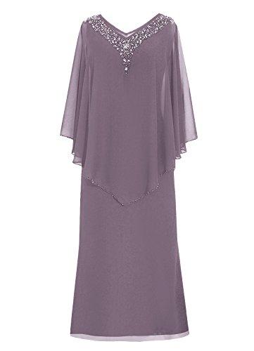 Dresstells Robe de demoiselle d'honneur Robe de soirée Robe de mère de mariée longueur ras du sol Gris
